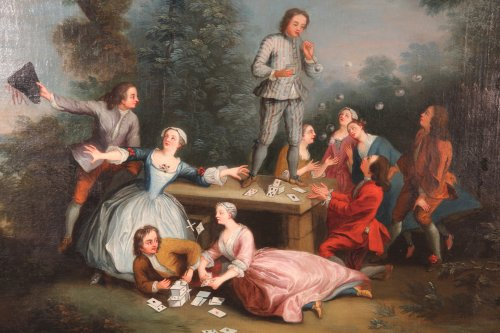 Late18th C French School- Soap bubbles - Paintings & Drawings Style