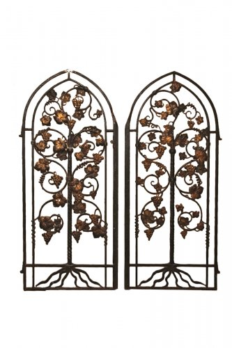 18th C Pair of gates in wrought iron