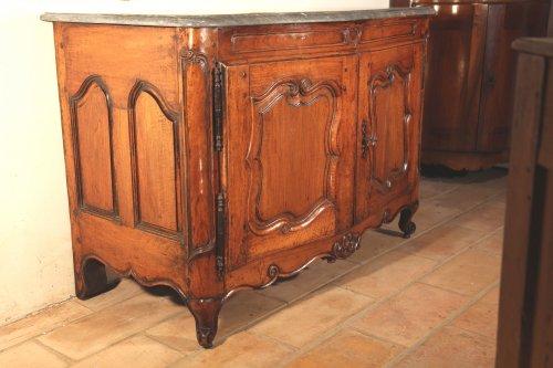 Furniture  - 18th C Louis XV Hunter buffet (dresser) in blond walnut wood