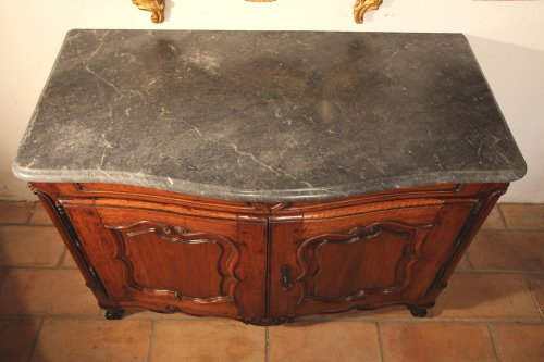18th C Louis XV Hunter buffet (dresser) in blond walnut wood -