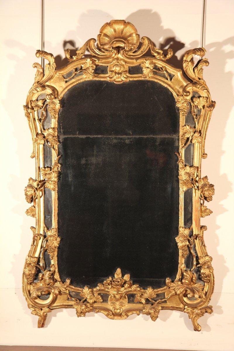 miroir parcloses louis xv provence xviiie si cle. Black Bedroom Furniture Sets. Home Design Ideas