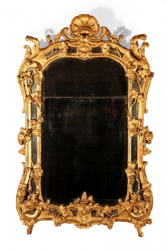 18th C Louis XV mirror from Provence in gilt wood