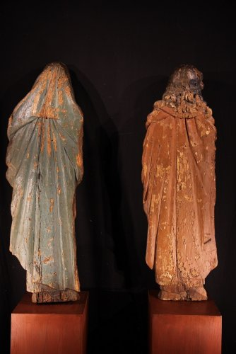 The Virgin Mary and St-John, Northern Europe circa 1500 - Sculpture Style