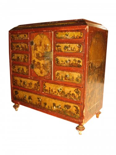 18th C  Cabinet in arte povera., probably Italian work