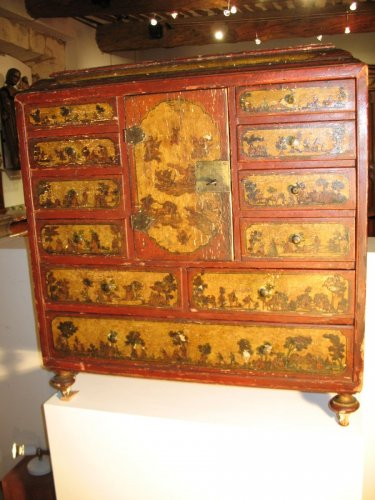 Furniture  - 18th C  Cabinet in arte povera., probably Italian work