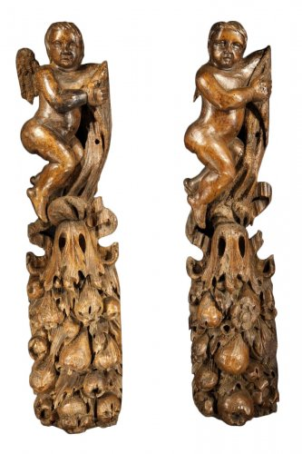 18th C pair of hanging statues