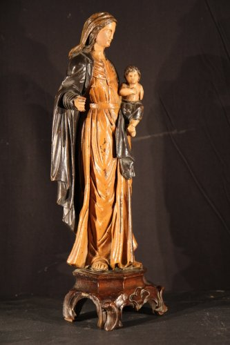 Virgin and Child, Italy18th century - Sculpture Style