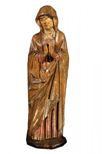 Early 16th C statue. Virgin from a Calvary.  From Germany.