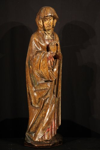 Early 16th C statue. Virgin from a Calvary.  From Germany. - Sculpture Style