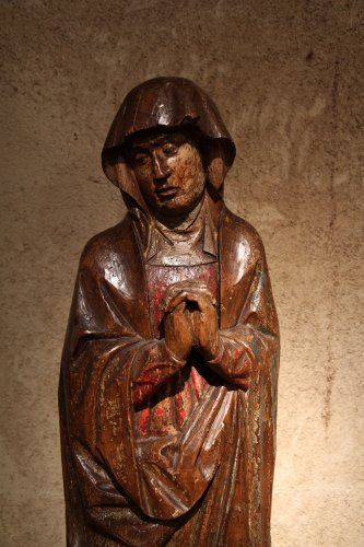 16th century - Early 16th C statue. Virgin from a Calvary.  From Germany.