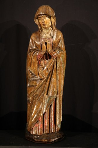 - Early 16th C statue. Virgin from a Calvary.  From Germany.