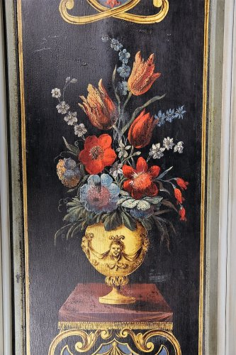 Panelling paintings formming a pair. 18th C French school - Paintings & Drawings Style