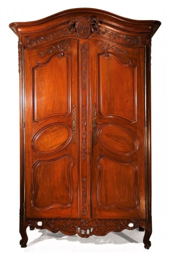 "Mid 18thC marriage ""armoire"" (wardrobe).From Provence"