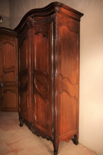 "Furniture  - Mid 18thC marriage ""armoire"" (wardrobe).From Provence"