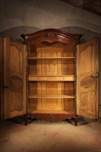 "Mid 18thC marriage ""armoire"" (wardrobe).From Provence -"