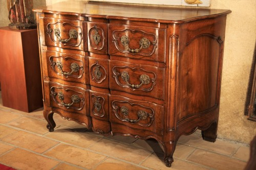 Furniture  - Important 18th C Louis XV chest of drawers from Provence