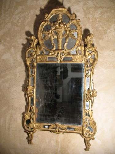 18thC Louis XV Mirror from Beaucaire (Provence) - Mirrors, Trumeau Style Louis XV