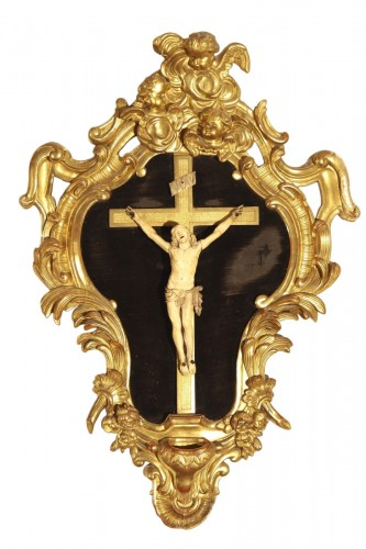 End of 17th - beginning of 18thC baroque Crucifix, from Provence.