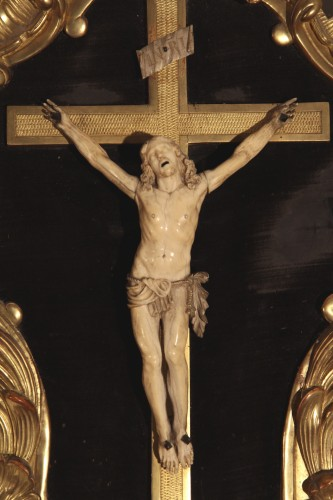 End of 17th - beginning of 18thC baroque Crucifix, from Provence. - Religious Antiques Style