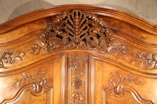 "End of 18th C marriage ""armoire"" (wardrobe). In walnut wood. From Nîmes. - Furniture Style Louis XV"