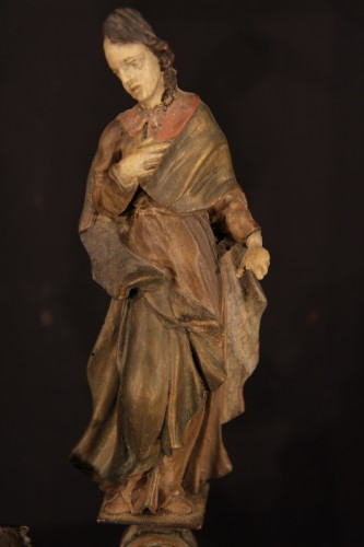 Sculpture  - Late 17th C-early 18th C Baroque Calvary in wood