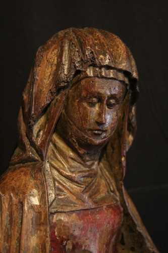 Sculpture  - Late 15th C Pietà in carved wood From Lorraine