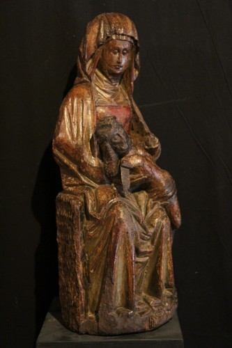 Late 15th C Pietà in carved wood From Lorraine -