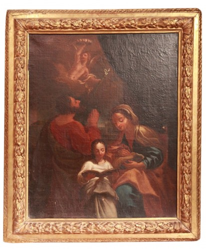 17th C French School. - The education of the Virgin