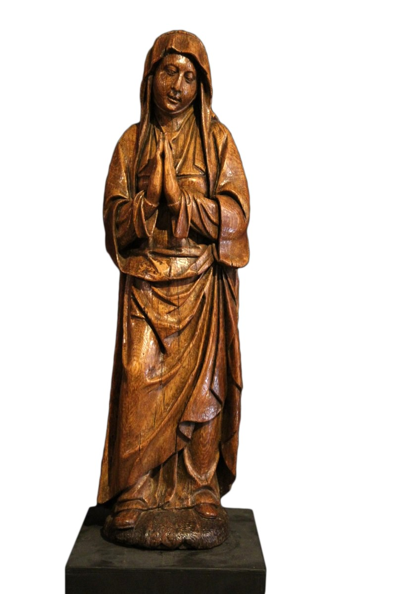 Early 16th C Statue The Virgin Annunciate From Germany