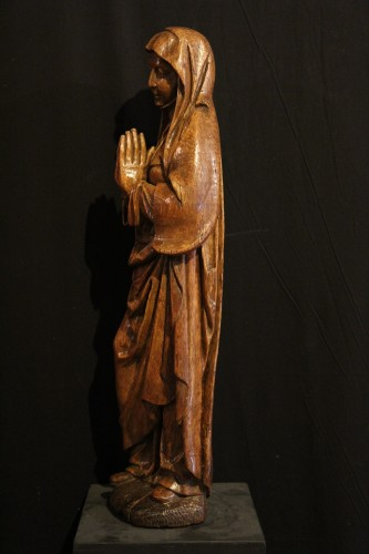 Early 16th C Statue. The Virgin Annunciate From Germany - Sculpture Style
