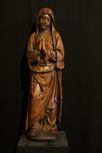16th century - Early 16th C Statue. The Virgin Annunciate From Germany