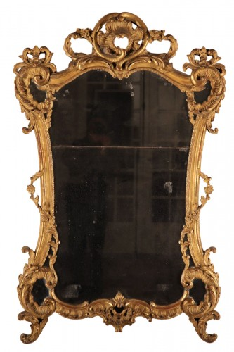 French provencal giltwood mirror