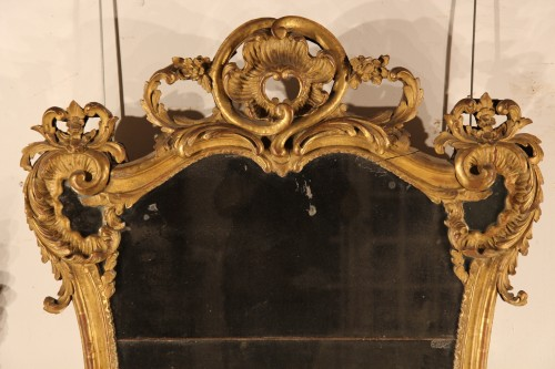 French provencal giltwood mirror - Mirrors, Trumeau Style Louis XV