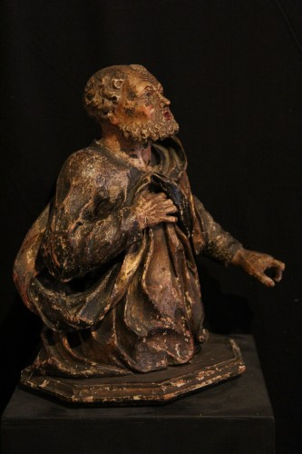 17th C Half-length Sculpture representing St Peter. From Italy. - Sculpture Style