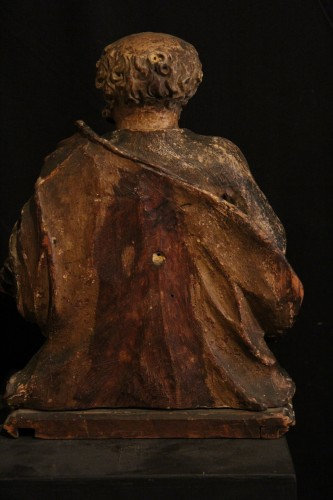 17th C Half-length Sculpture representing St Peter. From Italy. -
