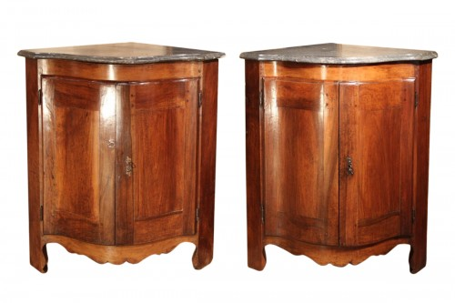 "Pair of low 18th century ""encoignures"""