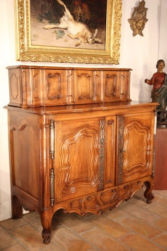 Late 18th C Buffet (sideboard) with sliding doors from Fourques - Furniture Style