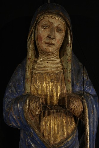 16th C Sorrowful Virgin From South Germany - Sculpture Style