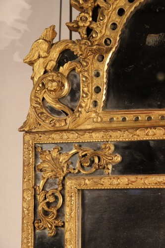 Mirrors, Trumeau  - French 18thC carved giltwood mirror