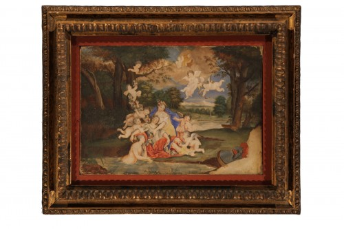 18thC French School.- Venus, Adonis surrounded by Cherubs