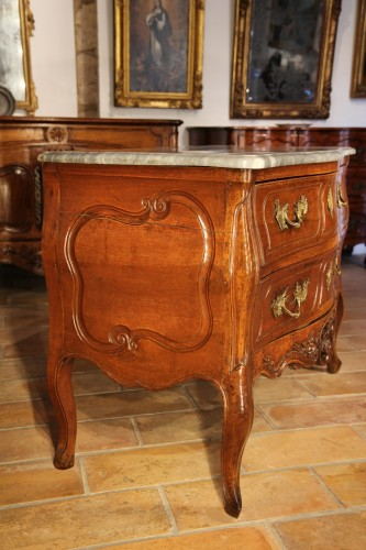 "Louis XV ""sauteuse"" chest of drawers From Provence -"