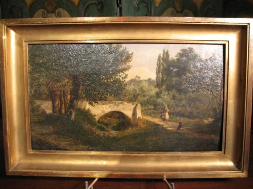 Paintings & Drawings  - Landscape with figures - Louis Aimé JAPY (1840-1916)
