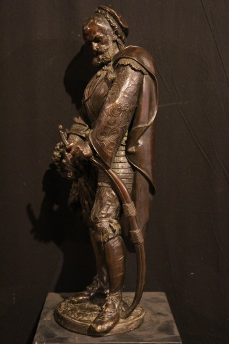 Sculpture  - Renaissance Archer.- - Guillaume DENIERE (1815-1903)