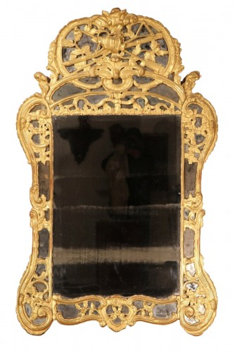 "18th C Mirror, with glazing bead, said ""from Beaucaire"". From Provence"