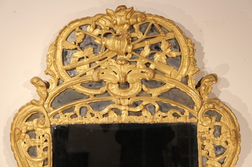"18th C Mirror, with glazing bead, said ""from Beaucaire"". From Provence - Mirrors, Trumeau Style Louis XV"