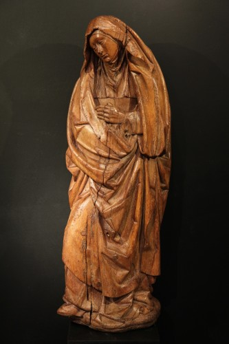 Second half of 15th C.Sorrowful Virgin, Burgondo-Flemish school - Sculpture Style
