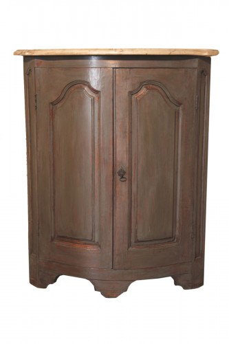 End of 18th C Louis XV Encoignure (corner cabinet). From Provence.