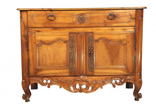 18th C sideboard, pierce-carved apron, from Nîmes