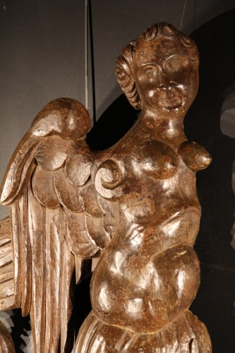 17th-18th C Pair of sculptures for naval vessels -