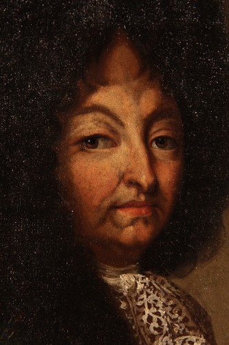 Portrait of Louis XIV in armour - French school of the 17th C  - Paintings & Drawings Style